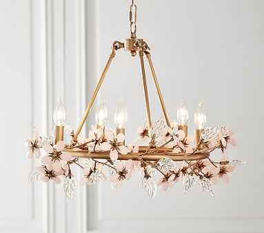 Grace Flower Chandelier - Pottery Barn Kids