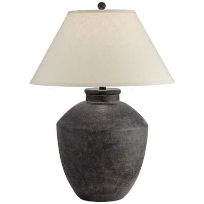 Massa Black Terracotta Jar Table Lamp - Style # 70X06 - Lamps Plus