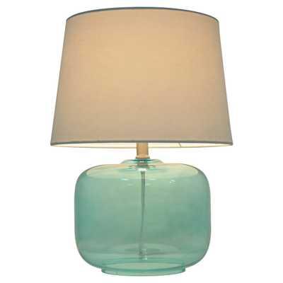 Glass Table Lamp Aqua (Blue) - Pillowfort - Target