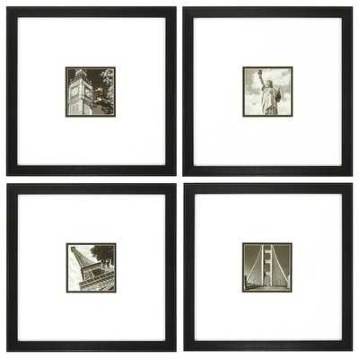 Photoscape 1 , 2 , 3 , and 4 4 Piece Framed Photographic Print Set - AllModern