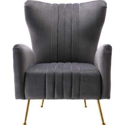 Spady Velvet Wingback Chair - Wayfair