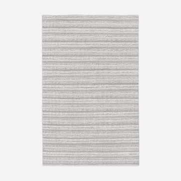 Stitched Mix Sweater Rug, Platinum, 5'x8' - West Elm