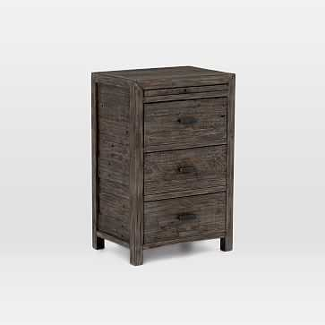 Modern Mixed Reclaimed Wood Nighstand, Black Olive - West Elm