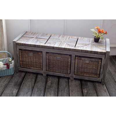 Wicker Storage Bench - Wayfair