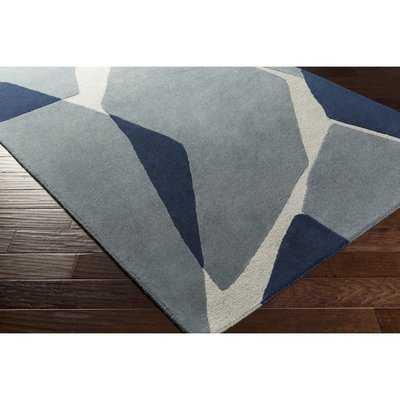 Nida Hand-Tufted Wool Blue/Gray Area Rug - AllModern