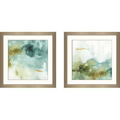 'My Greenhouse Abstract IV' 2 Piece Framed Watercolor Painting Print Set - Wayfair
