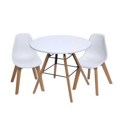 Letendre Kids 3 Piece Round Table and Chair Set - AllModern