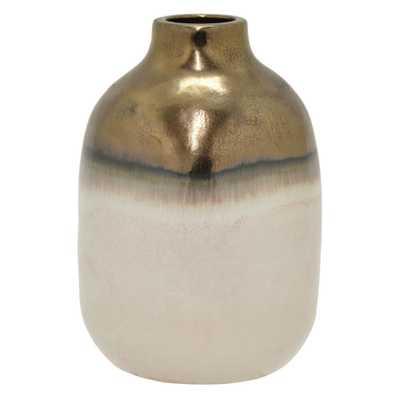 4.75 in. White Ceramic Decorative Vase - Home Depot