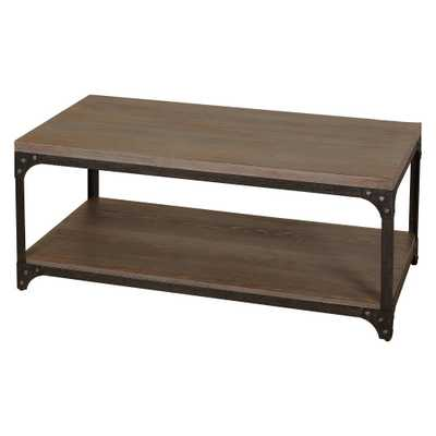 Scholar Vintage Industrial Coffee Table - Gray - Buylateral - Target