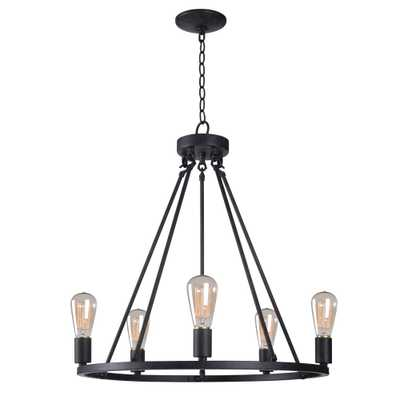 Kenroy Home Hixon 5-Light Graphite Chandelier - Home Depot