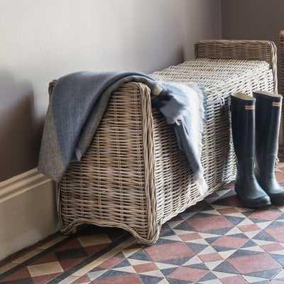 Orava Wicker Storage Bench - Wayfair
