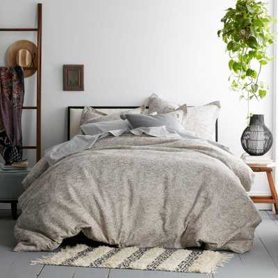 Telluride Taupe/Cream (Brown/Ivory) Cotton Queen Duvet Cover - Home Depot