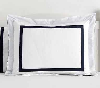 Decorator Standard Sham, Navy - Pottery Barn Kids