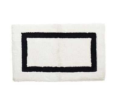 "Morgan Memory Foam Bath Rug, 21x34"", Black - Pottery Barn"