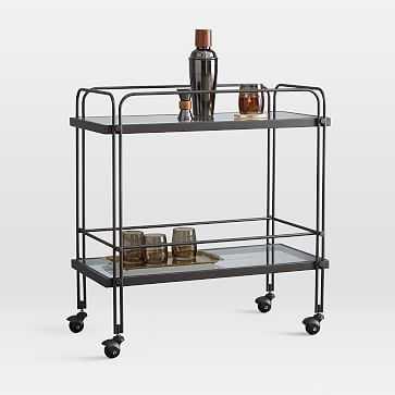 Fulton Bar Cart, Antique Bronze - West Elm