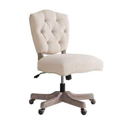 Fallon White Office Chair, Grey Wash - Home Depot