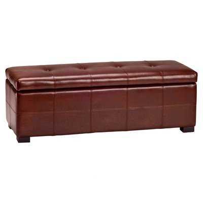 Catherine Faux Leather Storage Bench - Wayfair