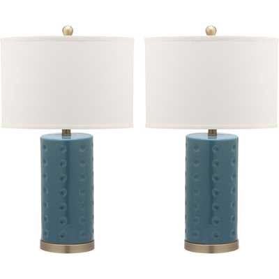 Table Lamp - Blue (Set of 2) - Safavieh - Target