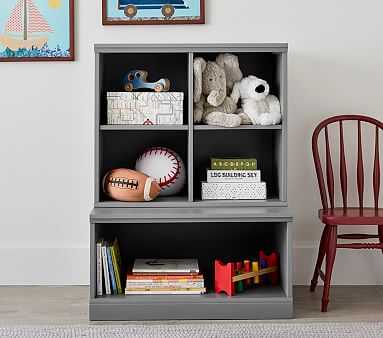 Cameron 1 Bookcase Cubby & 1 Open Base Set, Heritage Fog, Flat Rate - Pottery Barn Kids