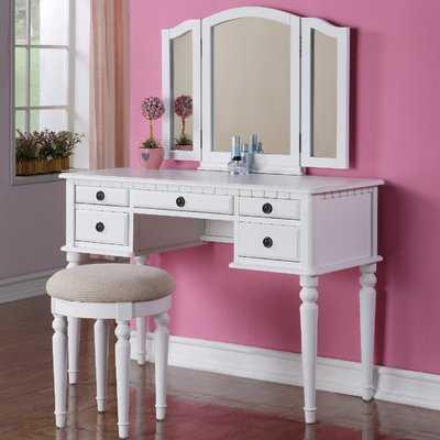 Torrance Vanity Set with Stool and Mirror - Birch Lane