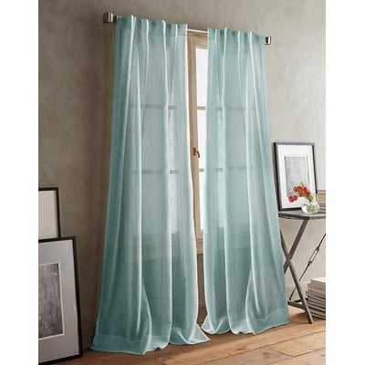 Paradox Back Tab Solid Room Darkening Curtain Panels - AllModern
