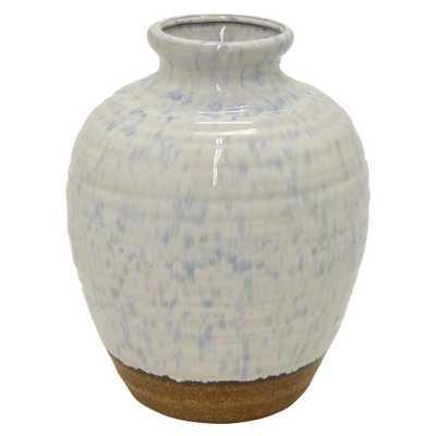 8.1 in. White Ceramic Decorative Vase, Whites - Home Depot