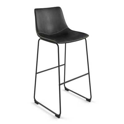 Petra Upholstered Barstool Set of 2 Black - Aeon - Target