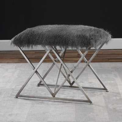 Chisley Fur Vanity Stool - Wayfair