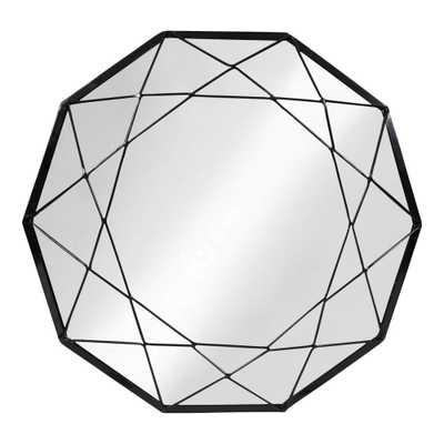 Keyleigh Round Black Wall Mirror - Home Depot