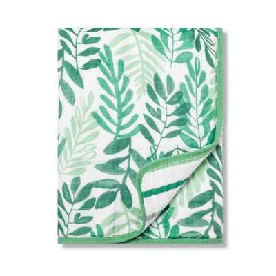 Muslin Baby Blanket Ferns - Cloud Island Trinket Green - Target