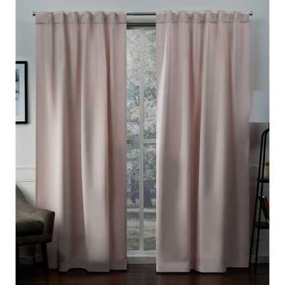 Exclusive Home Curtains Sateen Blush Woven Blackout Hidden Tab Top Curtain - 52 in. W x 96 in. L - Home Depot