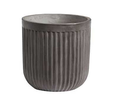 Concrete Fluted Planter, Medium - Pottery Barn