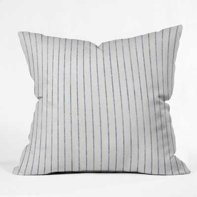 Holli Zollinger Aegean Wide Stripe Square Throw Pillow White/Blue - Deny Designs - Target