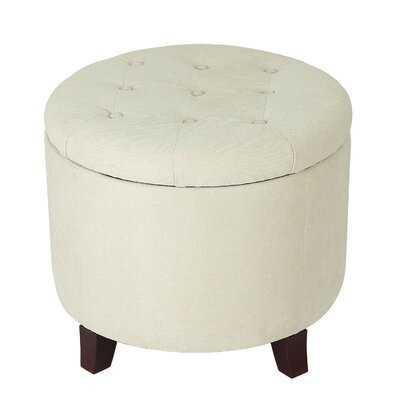 Vella Round Button Lift Top Tufted Storage Ottoman - Wayfair