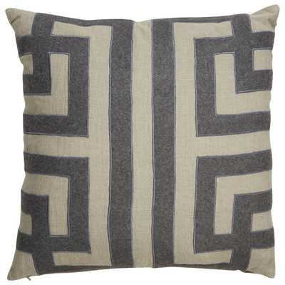 """Design (US) Gray 22""""X22"""" Pillow - Collective Weavers"""