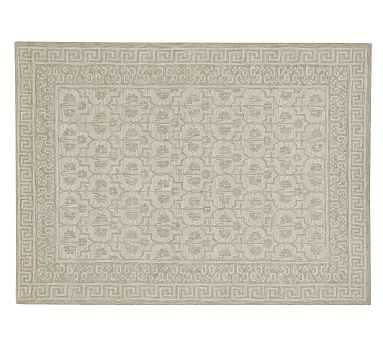 Braylin Tufted Wool Rug, 9x12', Neutral - Pottery Barn