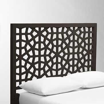 Morocco Headboard, King, Chocolate-Stained Veneer - West Elm