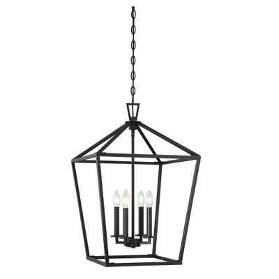 Filament Design 4-Light Matte Black Pendant - Home Depot