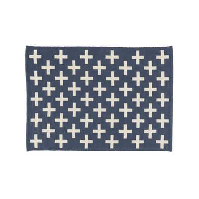 Positive 8x10' Blue Indoor Outdoor Rug - Crate and Barrel