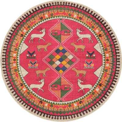 Sedona Pink 8 ft. x 8 ft. Round Area Rug - Home Depot