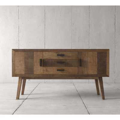 Urban Woodcraft Retro 60 in. Multi-colored teak Dining Buffet, Natural - Home Depot