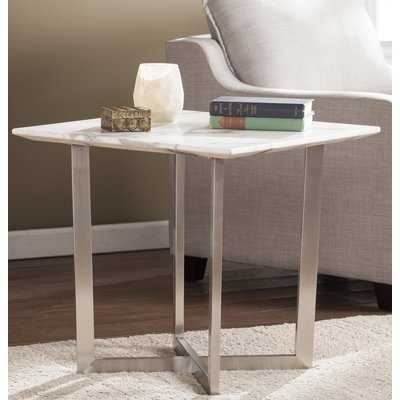 Rosenbalm Faux Marble End Table - Wayfair