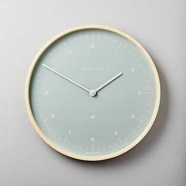 Mr. Clarke Clock, Medium, Bubble Green - West Elm