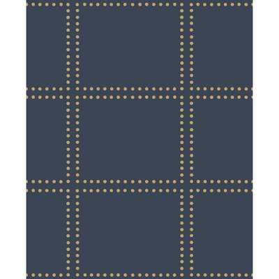 Gridlock Navy (Blue) Geometric Wallpaper - Home Depot