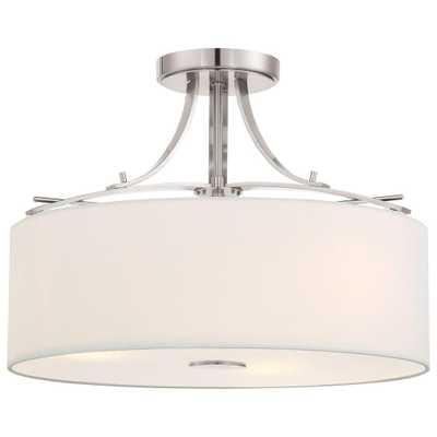 Minka Lavery Poleis 3-Light Brushed Nickel Semi-Flush Mount Light - Home Depot