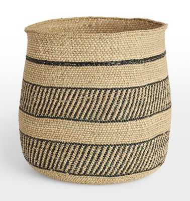 Iringa Basket - Black Stripe - Rejuvenation