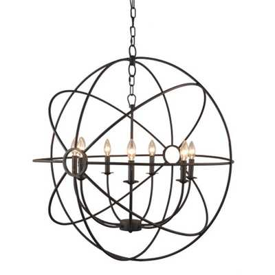 Y Decor Infinity 7-Light Rustic Bronze Mini Chandelier - Home Depot