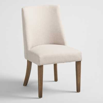 Natural Upholstered Lisette Dining Chair Set of 2 by World Market - World Market/Cost Plus