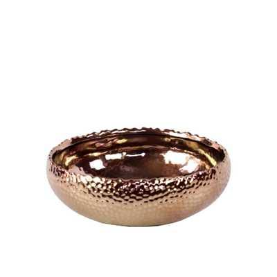 Copper Polished Chrome Ceramic Decorative Vase, Oranges/Peaches - Home Depot