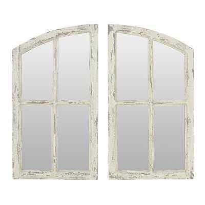 2 Piece Kissena Window Pane Accent Mirror Set - Birch Lane